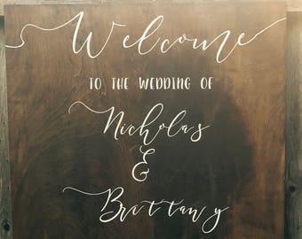 Wedding signs - wood wedding sign - Welcome wedding sign - wedding welcome sign - wedding entry signs - welcome sign - WEDDING