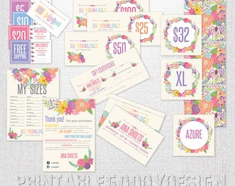 Marketing  KIT |flower|lularoe| Home Office Approved | DIGITAL PRINTABLE