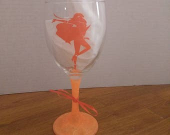 Sailor Venus glitter wine glass