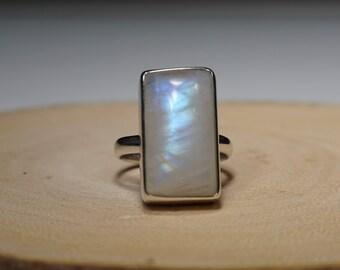 Handmade Sterling Silver Moonstone Ring