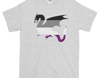 Works With Dragons Asexual Pride Unisex Short-Sleeve T-Shirt, ace pride, lgbt, lgbtq, lgbtqipa, queer,