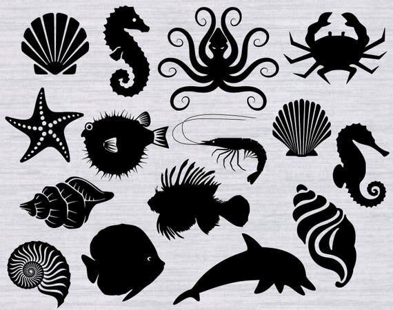 Ocean Svg Bundle And Clipart Beach Svg Under The Sea Svg