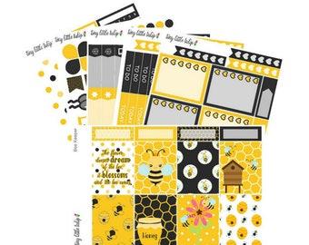 Planner Stickers Bee Keeper Weekly Kit | fits the Erin Condren Vertical Life Planner