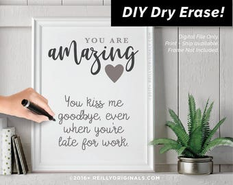 Fiance card etsy diy dry erase love you because valentine day printable amazing birthday gift card reason husband boyfriend solutioingenieria Images