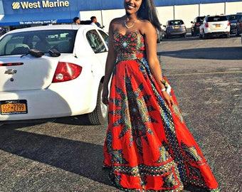Custom Sweetheart Neckline Dashiki/Angelina Ball Gown  ( Prom/Wedding/Red Carpet )