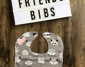 Fox & Friends Bibs/Baby Bibs/Animals/baby shower/gifts/handmade