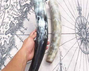 Large Viking War Horn/Blowing Horn 17-19 Inches Long! Hand Made Norse Nordic War Horn Blowing Horn