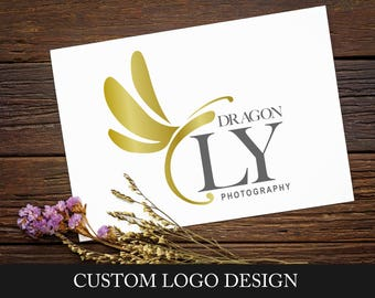 Custom Logo Design - Photography Logo - Logo Design Package - Custom Branding Package - Business Logo - Dragonfly