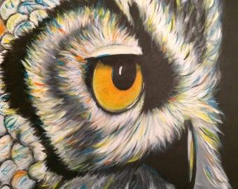 Painting OWL 22 x 18