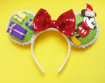 Disney Christmas / Santa Mouse Ears   Disney Ears   Minnie Ears