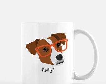 Personalized Jack Russell Terrier Mug, Jack Russell Terrier Coffee Mug, Jack Russell Terrier Gifts, Dog, Customized Jack Russell Terrier Mug