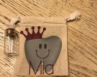 Tooth fairy bags with glass jar