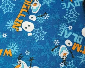 Disney Frozen Olaf Snowman Fabric