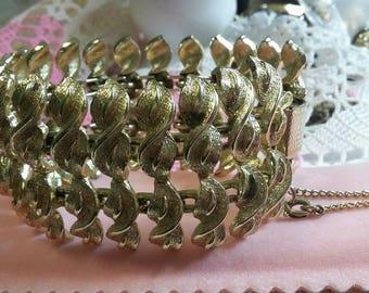 Vintage Coro goldtone wide bracelet