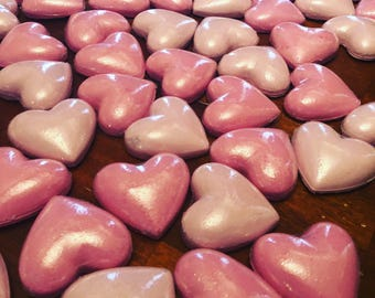 Heart bath bombs/ Valentine's Day/ gifts for her/ gifts/ dollar bath bombs/ hearts/ bath bombs/ natural bath bombs/ organic bath bombs