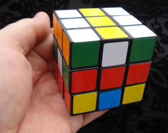Rubik's Cube Logic Game / Vintage Magic Cube / Collectible/ Travel Game/Vintage Toy/Gift for Everyone/1990s/Unused