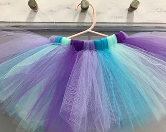 Under The Sea Mermaid Tutu - Baby Mermaid Birthday Party Tutu - Mermaid Cake Smash Tutu - Mermaid Photo Shoot Prop Tutu - Baby Naming Tutu