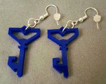 Ingress Resistance Opaque Key Acrylic Earrings