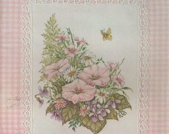 Summer Sale Fabric Painting in Tole Volume I Pink Gingham by Kay Burdette Painting Book