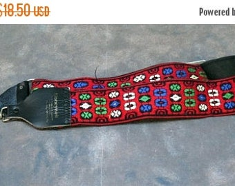 S Honeywell Hippie Camera Strap, Red, Green Blue, & White