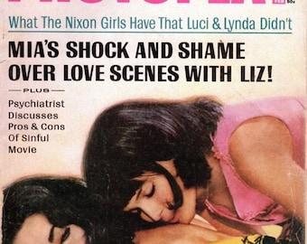 Photoplay Magazine February 1969 Jackie , Nixon Girls, Mia and Liz