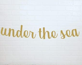 Gold Under the Sea | Glitter Under the Sea | Mermaid Banner | Mermaid Garland | Under the Sea Party | Mermaid Party