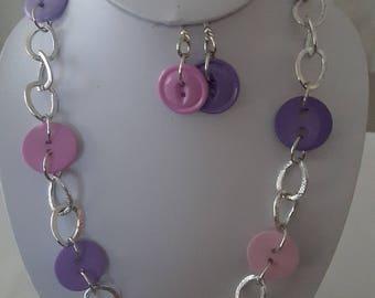 Beautiful purple button set.