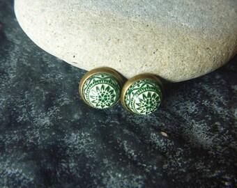 vintage green Moroccan earrings
