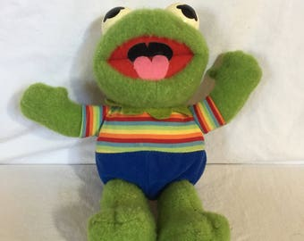 1983 Hasbro Softies Kermit the Frog Baby