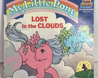 "1985 My Little Pony ""Lost in the Clouds"" book"