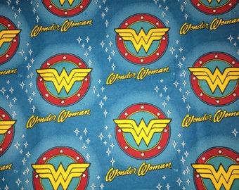Extra Large Wonder Woman Blue Receiving Blanket