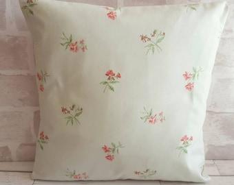 Blue floral cushion cover, pink flower cushion, flower cushion, shabby chic cushion, Jane Churchill fabric, pretty cushion, floral pillow