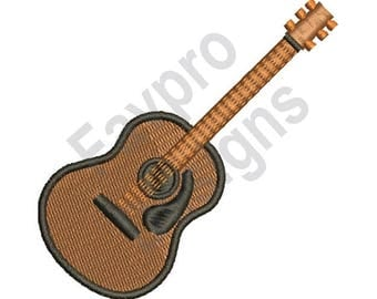 Acoustic Guitar - Machine Embroidery Design