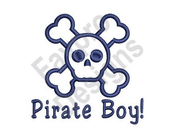 Pirate Boy - Machine Embroidery Design