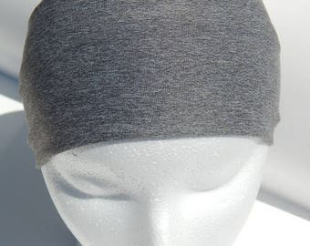 Yoga headband. Wide. Gray.  Active. Headband. Stretch. Yoga. Tight fit.
