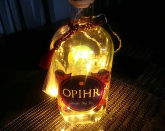 gin/Opihr lights in a bottle. Ideal Christmas/valentines gift idea.