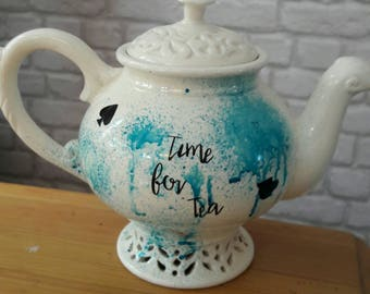 Alice inspired tea pot