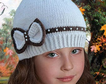 Kids  Knits 1 +...years. 100%  Hand Knitted Hat of Alpaca wool, Merino wool.  Made with LOVE for you