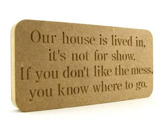 Our House plaque, House plaque, House warming gift, House warming present, Gift idea, Moving home gift