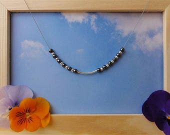 Erell - 925 sterling silver and hematite necklace