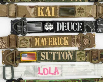 Personalized Tactical Dog Collar with Metal Cobra Buckle