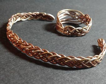 Braded cuff and ring