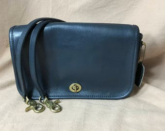 Vintage Coach   Coach Bag   Blue   1740   Made in New York City   Crossbody