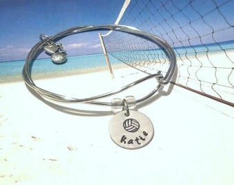 Volleyball Bracelet, Volleyball Team Jewelry,Team Charm Bracelet, Sport Jewelry, Team Bracelet, Coach Gift