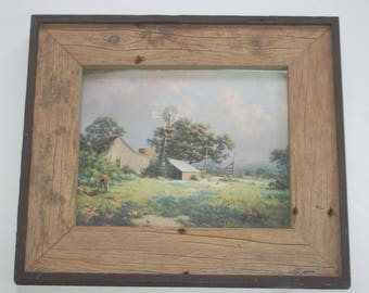 "Dalhart Windberg ""Memorable Springtide"" Print and Wood Frame"