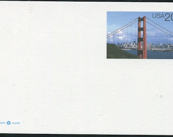 Golden Gate Bridge & San Francisco At Daylight/Unused Postcard