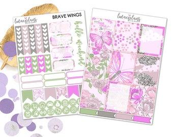 Brave Wings (EC) - Planner Sticker Erin Condren Happy Planner