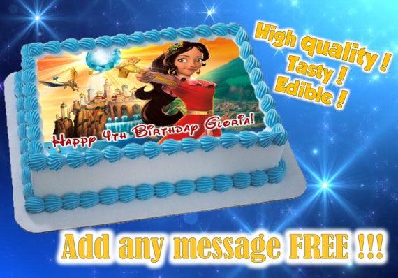 Princess Elena Cake, Cupcake & Cookie Toppers, Edible