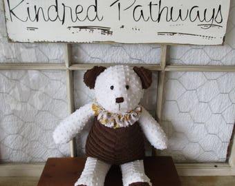 Chenille Bear ~ handmade
