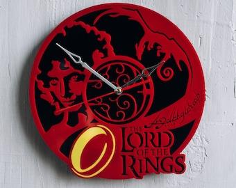 Lord of the Rings Clock LotR ring home decor lotr decor lord of the rings wedding hobbit lotr cosplay hobbit cosplay wall art Saruman